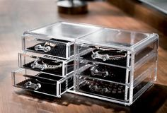 Grand coffret range-bijoux 6 tiroirs