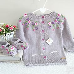 (notitle) We are with you with the sought-after baby knitting models. The baby knitting models we ha Baby Boy Knitting Patterns, Baby Cardigan Knitting Pattern, Knitting For Kids, Crochet For Kids, Baby Patterns, Knit Patterns, Crochet Baby, Baby Girl Dresses, Baby Dress