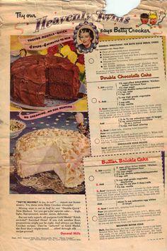 Heavenly Twins Cake Recipe Advertisement