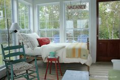 At Home on the Bay: Stacey and Mark's Sleeping Porch Tour