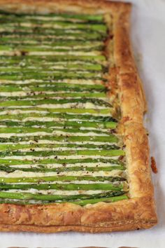 Gorgeous and impressive,  Asparagus Gruyere Tart.