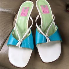 Lilly Pulitzer Lulu Pulitzer Sandals in excellent condition size10, great for summer. Lilly Pulitzer Shoes Sandals