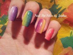 Video Tutorial Nail Art Tecnica Shade (senza gel e senza smalti!) - Nail Art Felice by Sophia