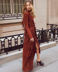 The Loni suede coat, available at ShopBop