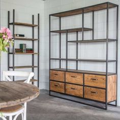 Iron Furniture, Industrial Furniture, Home Furniture, Furniture Design, Home Library Design, Home Office Design, House Design, Loft Kitchen, Home Decor Kitchen