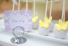 Butterflies And Flowers Guest Dessert Feature | Amy Atlas Events