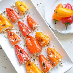 Stuffed MIni Peppers Recipe Appetizers with goat cheese, fresh parsley, sweet mini bells, coconut oil, pepper