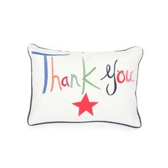 "Throw down some gratitude. ""Thank You"" Pillow by the resplendently talented @Lulu_DK"