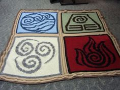'Avatar: The Last Airbender' Four Elements Blanket | Geek Crafts (i know not exactly pagan but...its so cute and I could work with it lol)
