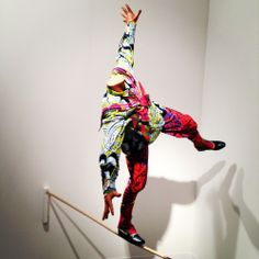 """Art Basel Miami Beach 2012 Diaries: It's Almost Like You're There (PHOTOS, LIVEBLOG) Yinka Shonibare, """"Boy on a Tightrope"""" at James Cohan Gallery  I like your style, boy."""