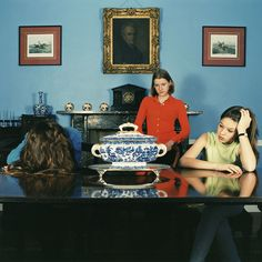 Sarah Jones - Dining Room (Francis Place II) 1997: Not a massive fan of set up portraits, but always liked this series by Sarah Jones looking at adolescence (in rich teens!)