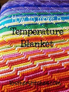 Temperature Blanket ~ lost her stitches