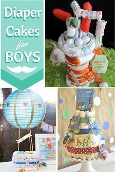 Cute Diaper Cakes for Boys
