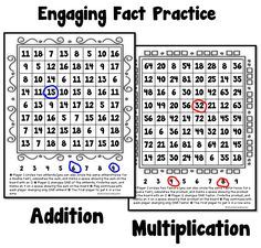 Math Coach's Corner Fact Practice Addition and Multiplication Math Fact Fluency, Math Multiplication, Math Resources, Math Activities, Fun Math, Math Fact Practice, Math Coach, Fourth Grade Math, Math Intervention