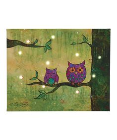 This Groovy Owls Canvas Art by Transpac Imports is perfect! #zulilyfinds