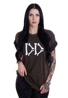 Commandez Drop Dead - Boned Aged Black - T-Shirt pour 33,99€ (19/05/2017) chez Impericon France.