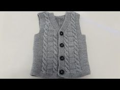 Saç Örgülü Erkek Bebek Yeleği - YouTube Baby Knitting Patterns, Baby Cardigan Knitting Pattern, Knitting Designs, Crochet For Kids, Crochet Baby, Youtube Model, Piercings, Moda Emo, Knitting For Beginners