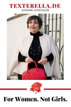 Blog von Susanne Ackstaller. Fashion, Lifestyle 50+, Travel, Column. For Woman. Not girls. #lifestyle #fashion #plussize #curvy Fashion Weeks, Lifestyle Fashion, Lifestyle Blog, Beauty And Fashion, German Fashion, Girls, Curvy, Plus Size, Inspiration