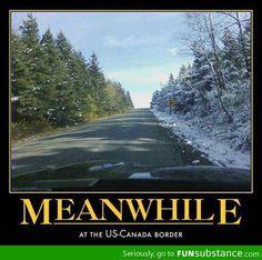 At the US - Canada border