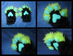 CUSTOM Made to Order Handpaws with Realistic Silicone Rubber Pads - Animal Gloves Paws Fursuit Furry Costume Cosplay
