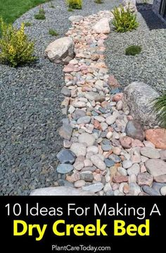 Many homeowners wanting a dry creek bed often end up with a drainage ditch. For ideas along with form and function [LEARN MORE] Many homeowners wanting a dry creek bed often end up with a drainage ditch. For ideas along with form and function [LEARN MORE] Landscaping Supplies, Landscaping With Rocks, Front Yard Landscaping, Landscaping Ideas, Mulch Landscaping, Backyard Ideas, Pool Ideas, Courtyard Landscaping, Backyard Plants