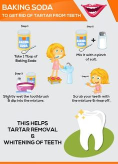 Brush With Baking Soda to Remove Tarter From Teeth