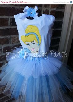 ON SALE Princess Cinderella Tutu with by 3LittleSassyPants on Etsy, $26.09