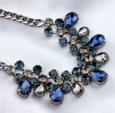 Korean Vintage Crystal Necklace Clavicle Chain