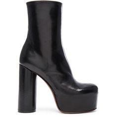 Leather block-heel boot VETEMENTS Pe9zb