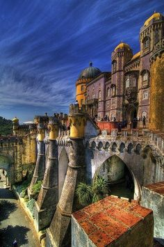 I've actually been fortunate to visit Sintra, Portugal for a day. But I'd love to stay a week and just travel to all of the castles!!