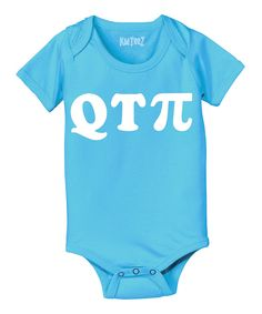 Look at this Turquoise 'QTPi' Bodysuit - Infant on #zulily today!
