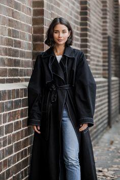mbfwa   street style   fashion week   michael lo sordo coat   harperandharley