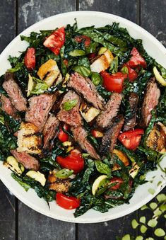 An ode to the classic French dish of leeks vinaigrette, the bright, addictive condiment clinging to this quick-cooking steak dinner is also destined for your next roast chicken or pork chop. Sauce Barbecue, Bread Salad, Sauce Recipes, Grill Recipes, Grill Meals, Beef Recipes, Cookie Recipes, Vegetarian Recipes, Healthy Recipes