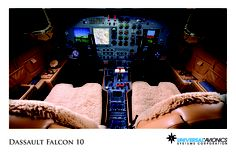 "Universal Avionics: Dassault Falcon 10 - (1) Display Suite: 3 EFI-890R 8.9"" Flat Panel Displays; (2) Situational Awareness: 1 Vision-1 Synthetic Vision System, 1 Application Server Unit (ASU) for Jeppesen charts, checklists, weather and E-DOCS; (3) Flight Management: 1 UNS-1L FMS with 5"" CDU; (4) Radio Tuning and Communications: 2 Radio Control Units (RCU)"