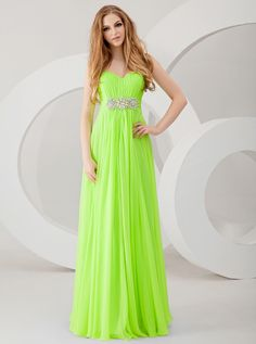 Neon Green Bridesmaid Dresses