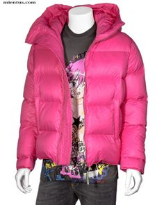 DSQUARED2 Hooded Down Jacket Pink   pink model size 48 shoulders 50cm, chest 60cm, length 72cm, sleeve length 64cm fabric: 100% polyamide filling: 80% down 20% feather  53629957