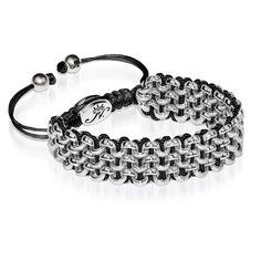 Silver Kismet Links Bracelet   Black