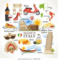 Find Welcome Italy Symbols Set stock images in HD and millions of other royalty-free stock photos, illustrations and vectors in the Shutterstock collection. Thousands of new, high-quality pictures added every day. 3 Days In Rome, Voyage Rome, Italy Country, World Thinking Day, Travel Scrapbook, Free Illustrations, World Cultures, Travel Posters, Canvas Art Prints