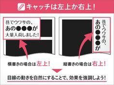 【特集】デザインの基礎知識。チラシデザインはどうやって作れば良いの?-キャッチは左上か右上