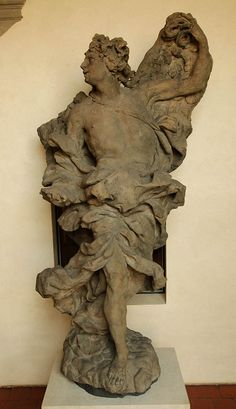 Mathias Bernard Braun - Angel2,1717-1718,sandstone,245cm,Prague-National gallery