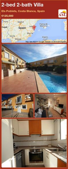 2-bed 2-bath Villa in Javea, Costa Blanca, Spain ▻\u20ac390,000
