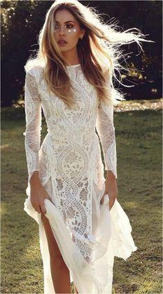 style casual bohemian wedding dresses 50