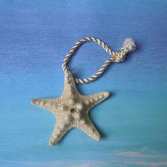 Starfish Wedding Favor and Ornament - Glitter Crystal Star