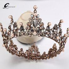 Baroque Crown Wedding Tiara Vintage Bridal Hair Accessories Hair Jewelry Alloy Tiaras Beauty Royal Crown Bridal Hair(China)