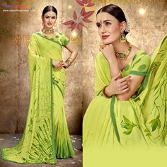Green Sarees online collection at best price. Checkout variety of Green Sarees for colors, Fabric, styles with express delivery. #eanythingindian #beindian #buyindian #ethnic #saree #greensaree #sareeoftheday Green Saree, Online Collections, Printed Sarees, Sarees Online, Ethnic, Sari, Delivery, Indian, Colors