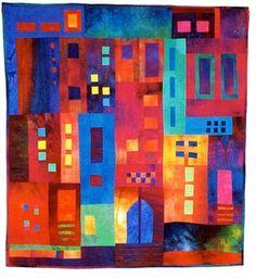 Cosmopolis, art quilt by Alicia Merrett, ColourScapes series