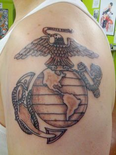 marine corps tatoos | 28 Always Loyal Marine Corps Tattoos | CreativeFan