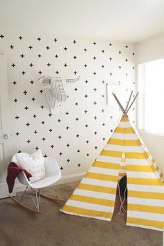 White and yellow kid room | daily-kids.fr
