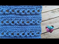 Point peruvien tricot / punto peruano dos agujas - YouTube