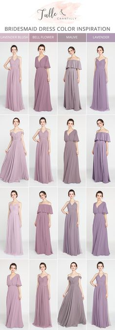 shades of purple bridesmaid dresses for 2018